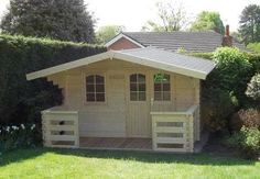 12x8 combination summerhouse shed log cabin in garden for Garden shed edinburgh sale
