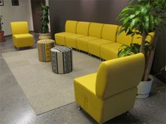 Vibrant waiting area with Artopex Cyrano and Element lounge seating.