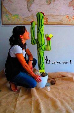 Cactus de tela de Kactus con K tamaño grande y personalizado al 100%