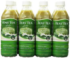 Fat Free, Matcha tea ; Teas' Tea Latte, Matcha Green Tea, 16.9 Ounce