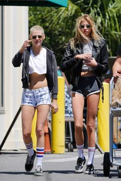 Who says you have to wait until summer to break out the short shorts? Kristen Stewart and Stella Maxwell couldn't resist the appeal of the barely-there look.