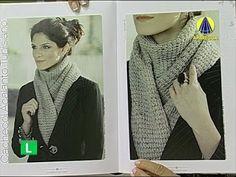 Katia Ribeiro Moda & Decoração Handmade: Cachecol em Crochê Tunisiano com Vídeo