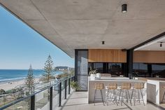 """Kira & Kira on Instagram: """"Wouldn't mind waking up to this view! The 'North Residence' overlooking stunning Burleigh Heads features the HK Living Rattan Barstools //…"""" Rattan, Bar Stools, Photos, Architecture, Gallery, Outdoor Decor, Balcony, Instagram, Home Decor"""