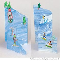 Winter Crafts For Kids Winter Art Projects, Winter Crafts For Kids, Winter Fun, Art For Kids, Kids Crafts, Winter Thema, Josi, 4th Grade Art, Art Lessons Elementary