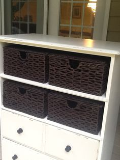 repurposed dresser perfect for the breezeway!