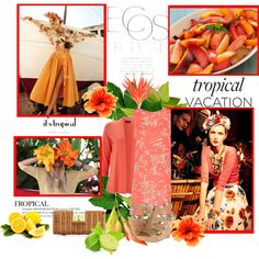 """Coral Tropical"" by lanaebond on Polyvore"