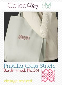 Priscilla Cross Stitch Border mod. No.56