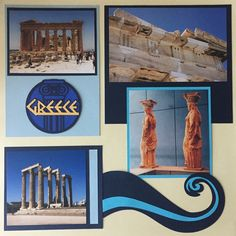 Let's travel the world together. One country at a time! Then we can scrapbook about it! Here are some of my layouts from travels over the years! This one is in Greece! #greece #athens #acropolis