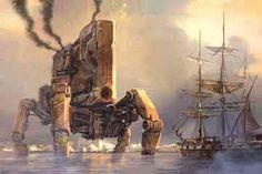 Doug Chiang - Stand Off Orson Scott Card, Traditional Artwork, Digital Paintings, Cyborgs, Matte Painting, Geek Art, Visionary Art, London Art, Fantasy Landscape