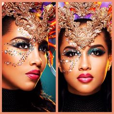 Carnival Rhinestone Makeup