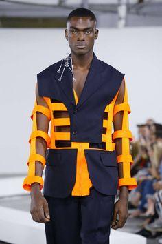 Walter Van Beirendonck S/S 2019 Menswear Paris Fashion Week Jojo Fashion, Future Fashion, Fashion Line, Fashion Week, Unique Fashion, Paris Fashion, Fashion Art, Fashion Brands, High Fashion