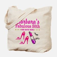 50TH BIRTHDAY Tote Bag Dazzle, sparkle and shine with our personalized 50th birthday gifts. http://www.zazzle.com/jlpbirthday/gifts?cg=196128245923858498&rf=238246180177746410  #50yearsold #50thbirthday #50thbirthdaygift #50thbirthdayideas #Happy50th #50thbirthdayparty