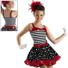 Fun Striped and Dotted Dress; Weissman Costumes