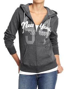 """Women's """"New York"""" Trademark Zip Hoodies   Old Navy"""