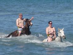 Horseback ride through the ocean