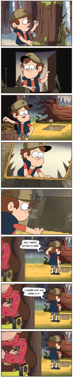 Mabel must have used a time thing from Blenden to keep Dipper from getting invested in the secrets of Gravity Falls. Gravity Falls Fan Art, Gravity Falls Comics, Gravity Falls Journal, Gravity Falls Dipper, Billdip, Disney Xd, Disney And Dreamworks, Disney Channel, Monster Falls