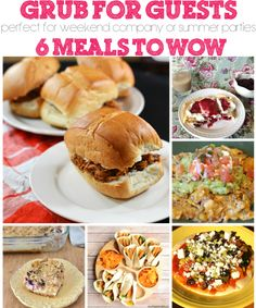 Meal Planning for Weekend Guests   Summer Parties