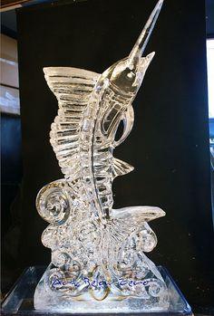 Swordfish 3D ice sculpture by Art Below Zero, via Flickr