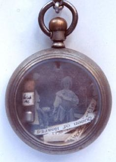 Photograph in an old watch