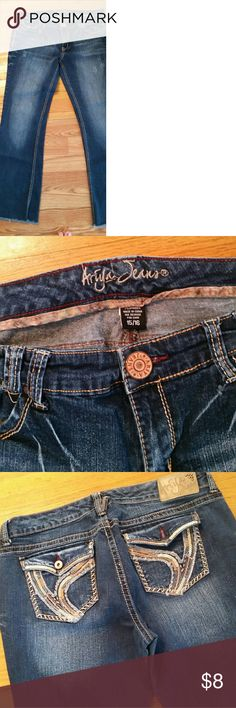 Ariya Jeans Good condition. Just missing a button on the back pocket. Ariya Jeans