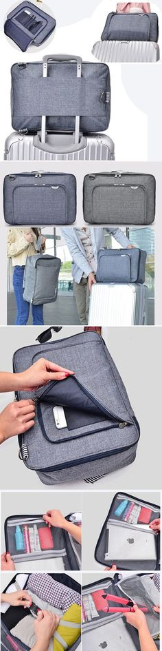 e9eb1d30c046 US 19.75 Oxford Multi-functional Luggage Storage Bag Travel Business Laptop  Bag Wash Shoulder Bags