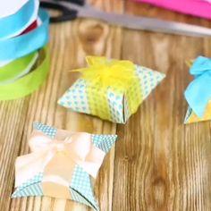 Easy Diy Crafts, Diy Arts And Crafts, Cute Crafts, Creative Crafts, Handmade Crafts, Crafts For Kids, Cute Gift Boxes, Diy Gift Box, Diy Gifts