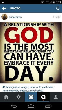 God comes first.
