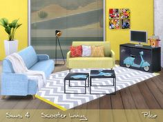 Scooter Living by Pilar at SimControl via Sims 4 Updates