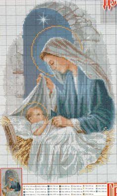 Virgen y el Niño,. tiernos y hermosos