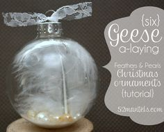 12 days of Christmas-Six Geese a-laying ornament
