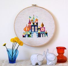 Pretty Little City  Colorful Castle Cross stitch door SatsumaStreet