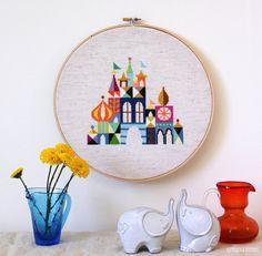 Pretty Little City - Retro Disney Inspired Cross stitch or needlepoint pattern PDF
