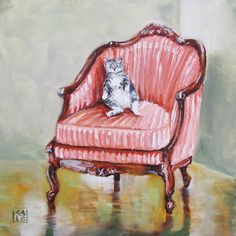 let them eat tuna, painting by artist Kimberly Applegate