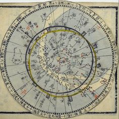 """The """"Tensho kanki sho"""" (""""Brief explanation of astronomical phenomena"""") Historical Artifacts, Historical Photos, Ancient Astronomy, Sacred Geometry Symbols, I Ching, Star Constellations, Star Chart, Ancient Mysteries, Vintage Maps"""