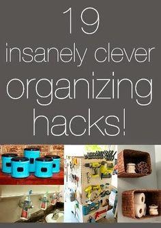 19 Insanely Clever Organizing Hacks