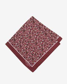 Speckled silk pocket square - Red | Ties & Pocket Squares | Ted Baker