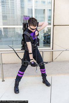"Hawkeye cosplay ""you've made your last mistake...ground..."""
