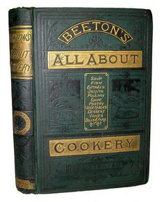 ANTIQUE COOKBOOK Mrs. Beeton\'s 1881 Victorian RECIPES Vintage COOKERY Old RARE