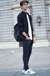 Teenage Boys Dressing - 20 Summer Outfits For Teenage Guys casual boy outfits - Casual Outfit Summer Outfits For Teenage Guys, Outfits For Teens, Boy Outfits, Classy Outfits, Black Outfits, School Outfits, Flannel Outfits, Outfits 2016, Chic Outfits