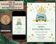 This Drive by Baby Shower Invitation, is such a great addition to your Drive through Baby shower announcement! This Car Baby Shower Invitation invite is for those who would like to leave, not only a subtle, but also an impactful impression with their friends Diy Wedding Stationery, Indian Wedding Invitations, Wedding Card Design, Wedding Invitation Cards, Baby Shower Invitations, Invites, Wedding Cards, Unique Wedding Save The Dates, Pink Save The Dates
