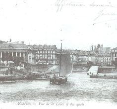Un chaland nantais sous voile s'engage sans hésiter dans le Canal.
