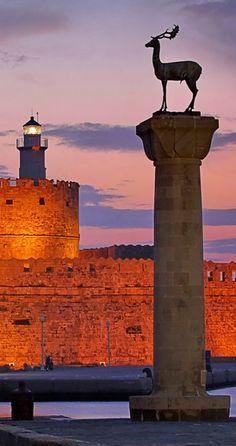 """City Gate"".. Mandraki the harbor of Rhodes Island, Greece  (by tolis* via Flickr)"