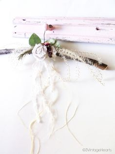 Farmhouse Prim Or Cottage Shabby Chic Decor Branch Hangers Are Approx