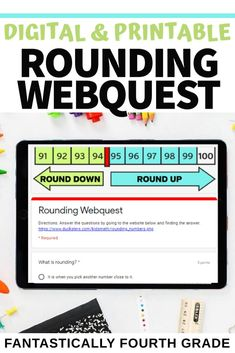Are you looking for a digital activity on rounding for your 3rd and 4th grade students? This rounding webquest is a great inquiry activity to introduce or review rounding. This works great for both distance learning and learning in the classroom! Elementary Teacher, Upper Elementary, What Is Rounding, Google Classroom, Classroom Ideas, Math Manipulatives, Fourth Grade Math, Math Lessons, Math Activities
