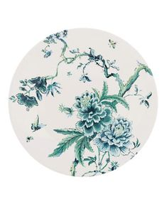 Chinoiserie White by Jasper Conran for Wedgwood  Exotic vegetation and regal birds decorate this bone china.  ^^well on my way to becoming a plate lady.