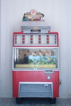 Rockin' Red Vintage AMI Jukebox