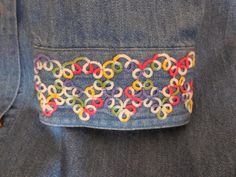 "Denim Shirt Embellishment--Pattern Variation #1 | Split Ring Tatting with ""The ShuttleSmith"""
