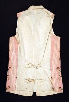 Waistcoat, Date: ca. 1780 Culture: British Medium: cotton, silk, flax