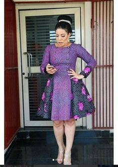 Awesome latest african fashion look . Short African Dresses, Ankara Short Gown Styles, African Inspired Fashion, Latest African Fashion Dresses, African Print Dresses, African Print Fashion, Ankara Fashion, Nigerian Dress Styles, African Traditional Dresses