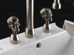 Skull Von Bronze | KitchAnn Style.....because sink fixtures need a gender lol....